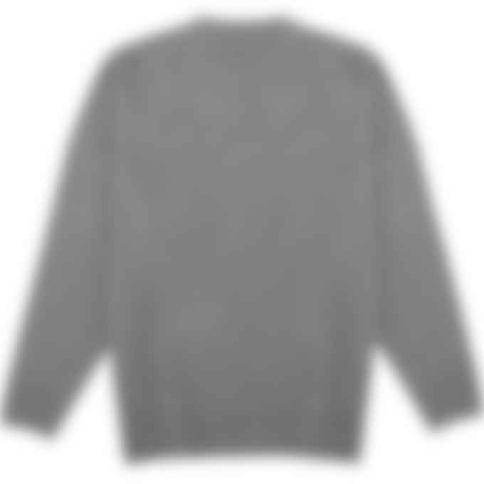 032c - 'Selfie' Knit Pullover Sweater - Reflective Grey