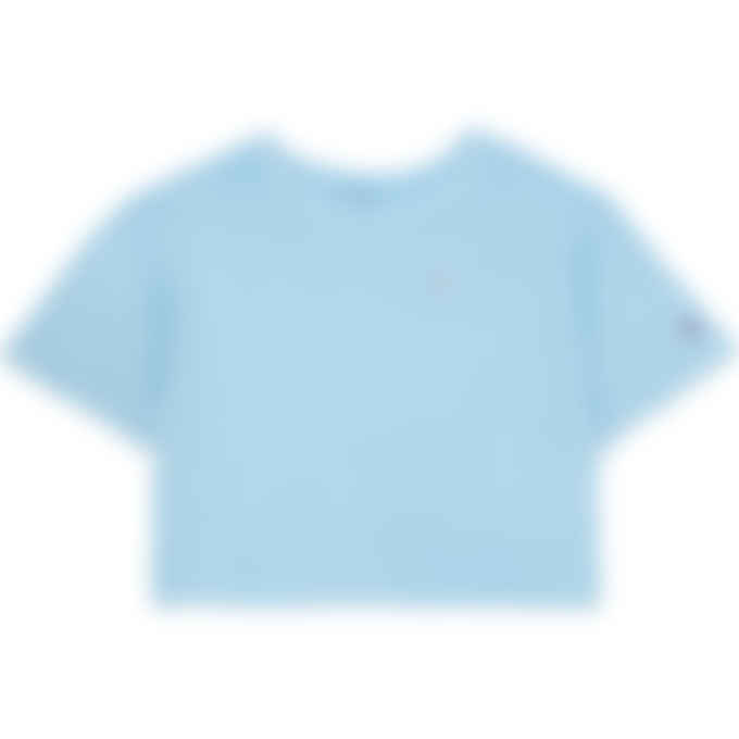 Champion - Vintage Dye Heritage Cropped T-Shirt - Candid Blue
