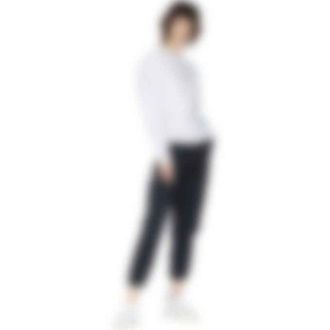 Champion - Reverse Weave Sleeve Script Logo Crew Pullover Sweater - Silver Grey