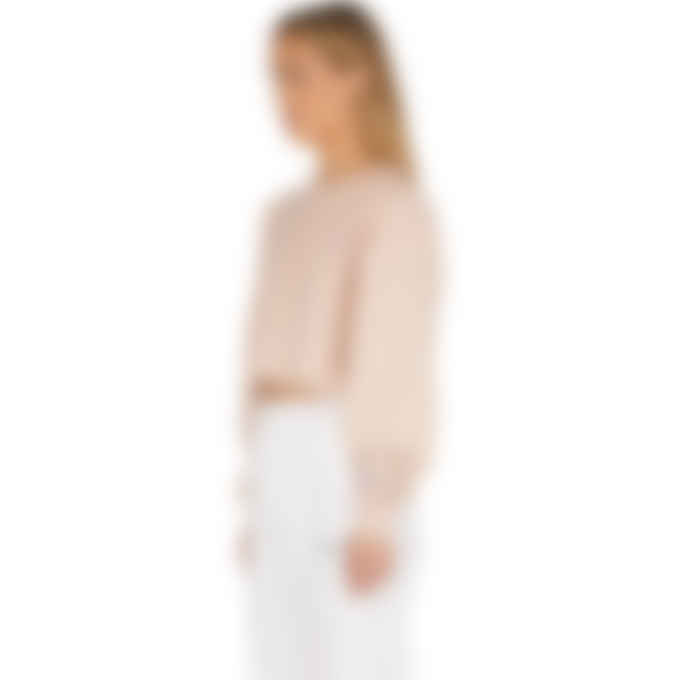 Champion - Reverse Weave Cropped Cut Off Pullover - Spiced Almond Pink