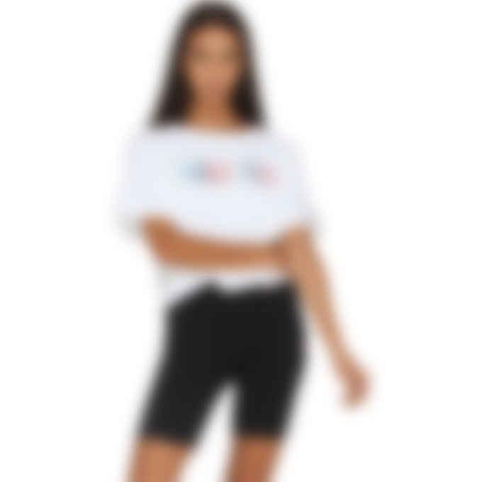 Champion - Overlap Block Heritage Crop Logo T-Shirt - White