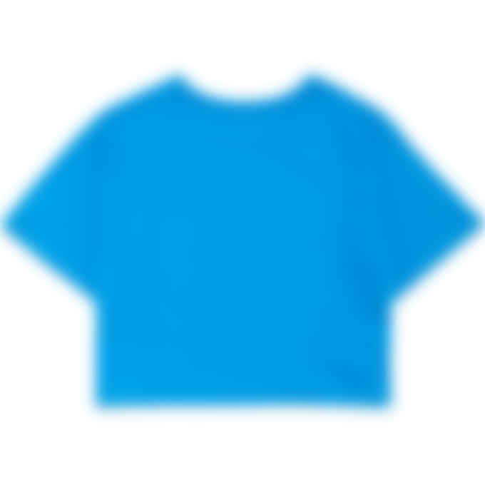 Champion - Script Logo Crop T-Shirt - Deep Blue Water