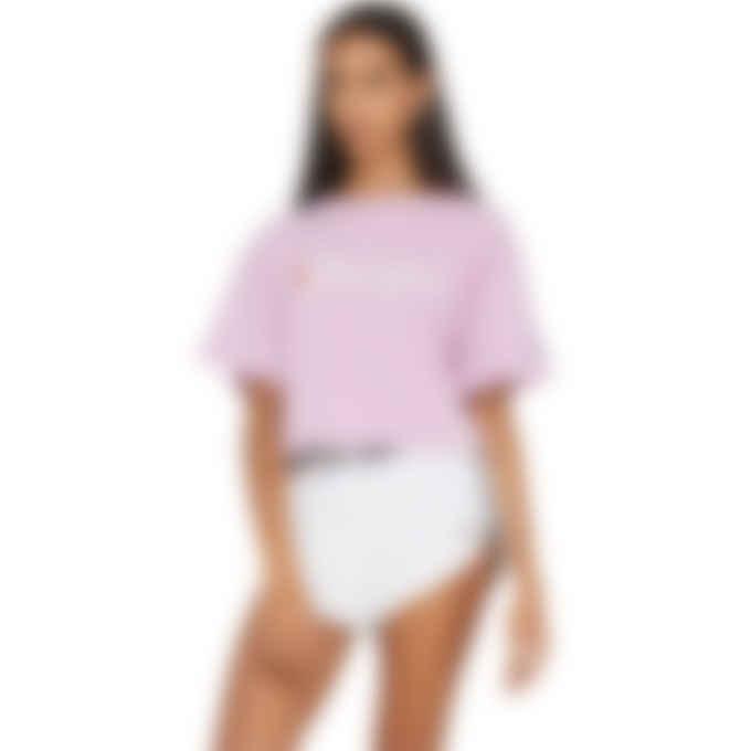 Champion - Script Logo Crop T-Shirt - Ice Cake Pink