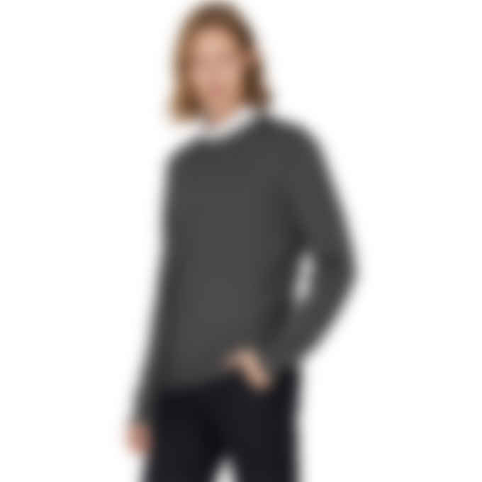 A.P.C. - King Knit Pullover Sweater - Heather Anthracite