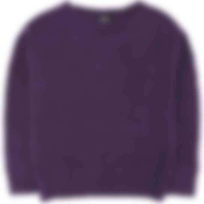 A.P.C. - Laya Knit Pullover Sweater - Purple