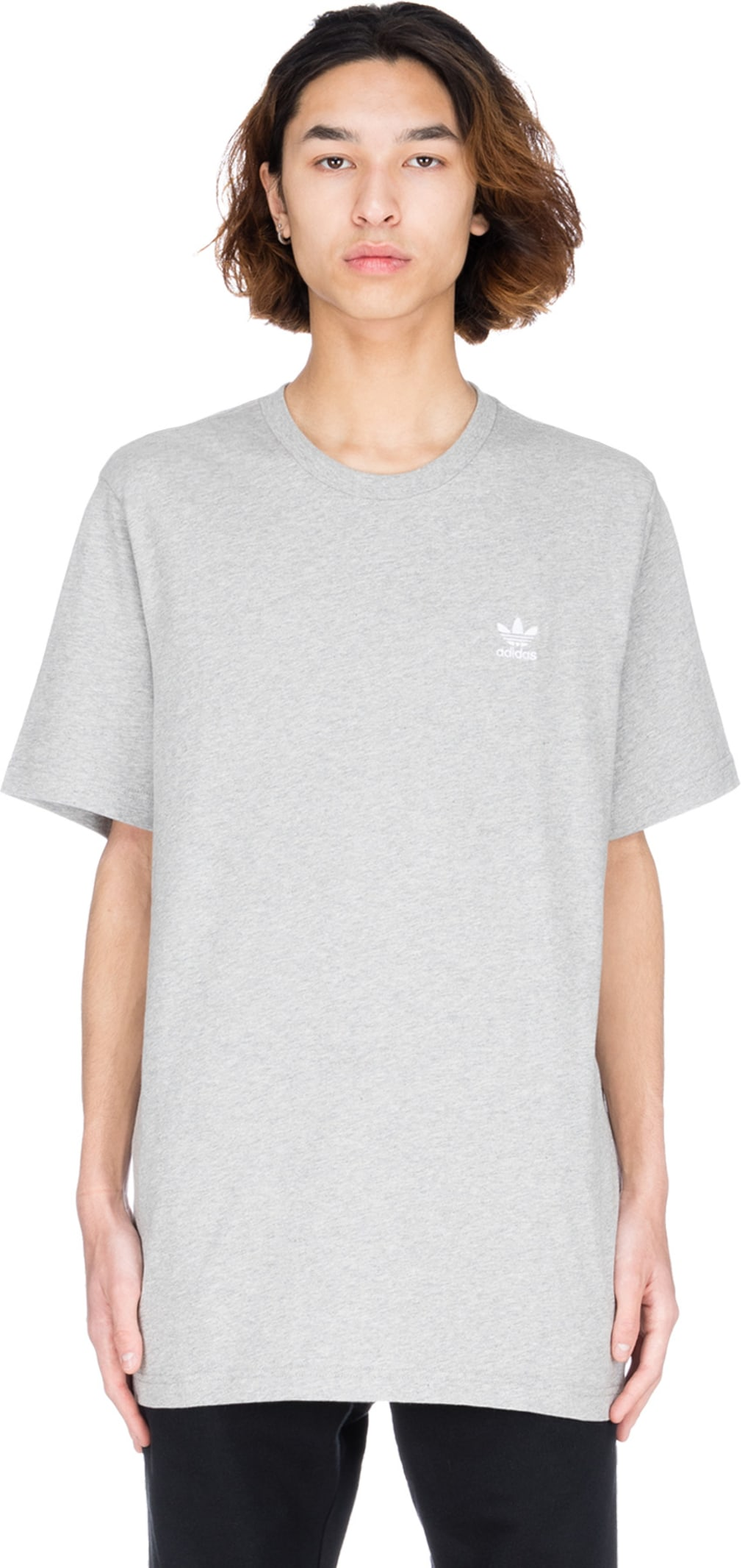 adidas Originals Essential T Shirt Medium Grey Heather