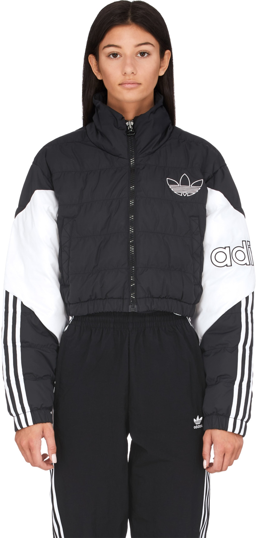 adidas Originals Cropped Puffer Jacket BlackWhite