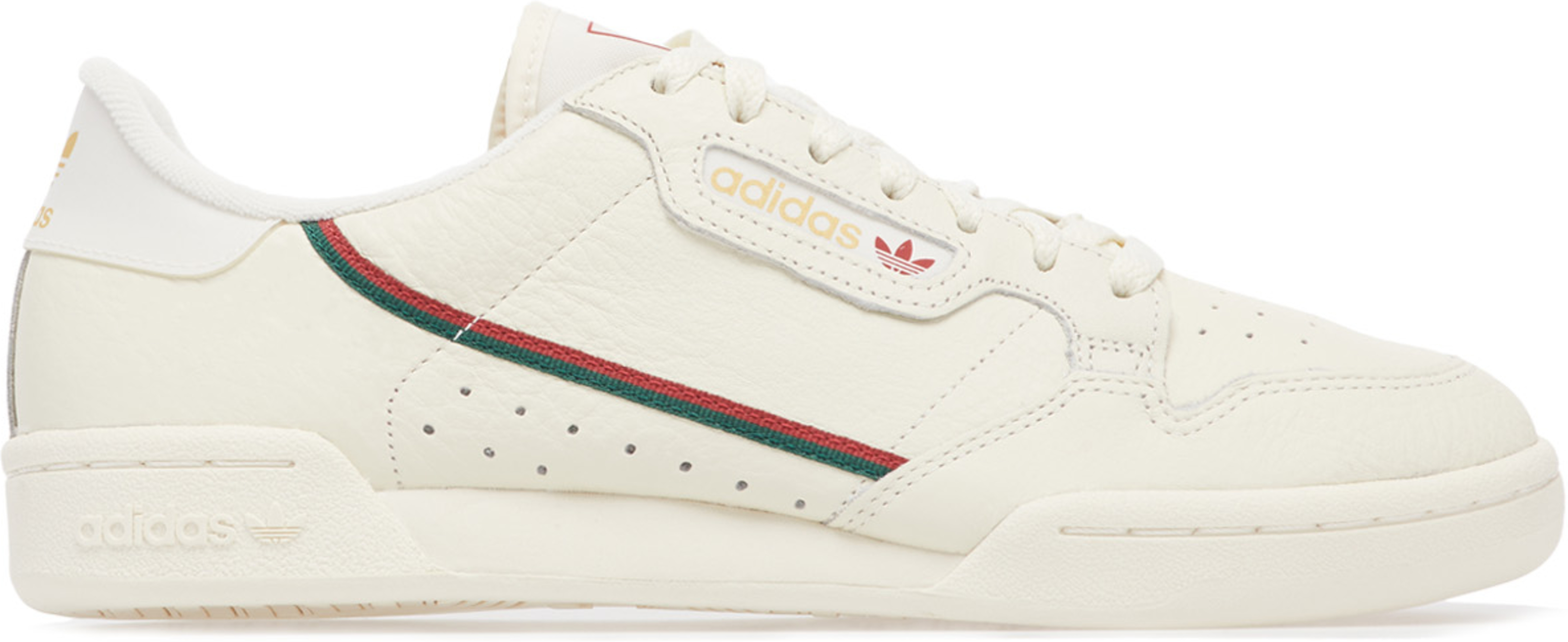 adidas Originals Continental 80 Core WhiteActive MaroonCollegiate Green