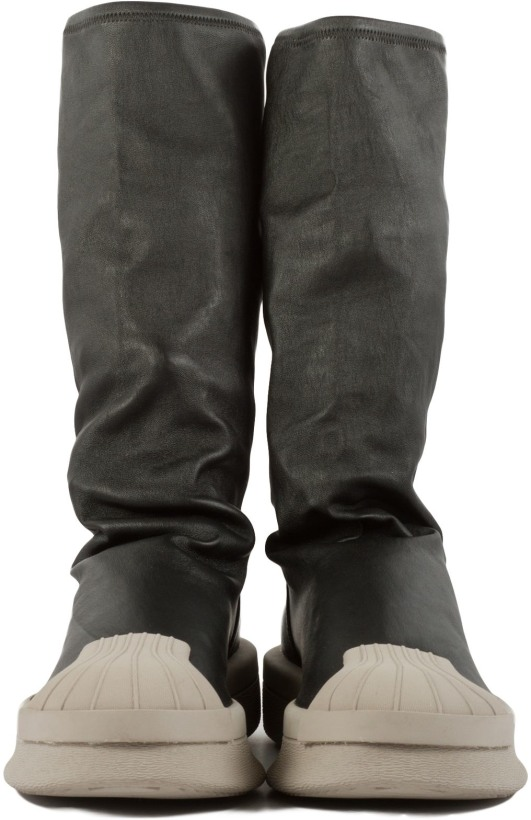 Adidas By Rick Owens Ro Mastodon Stretch Boots Black
